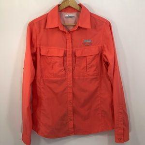 Columbia Long Sleeve Button Up Shirt M